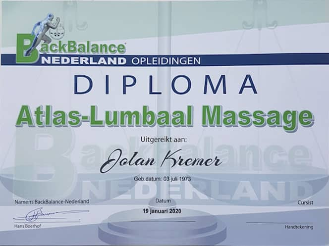 Atlas- Lumbaal massage